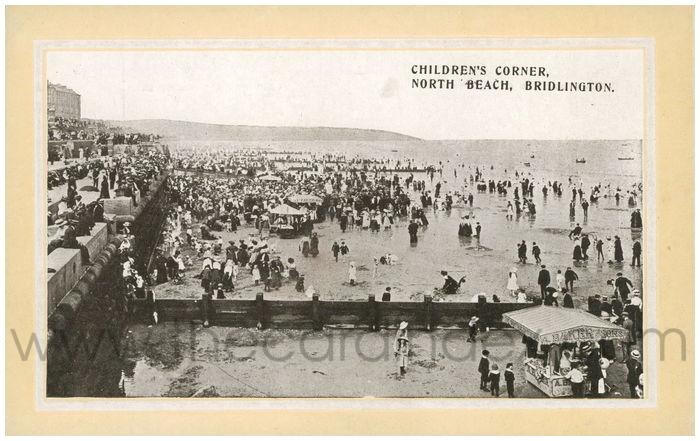 Postcard front: Children's Corner, North Beach, Bridlington.