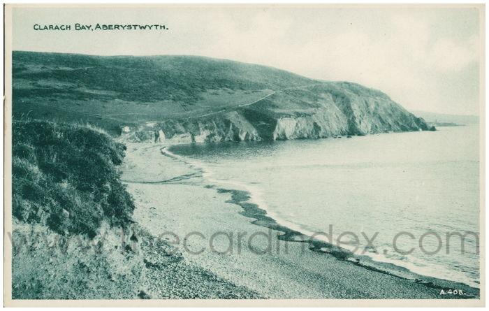 Postcard front: Clarach Bay, Aberystwyth.