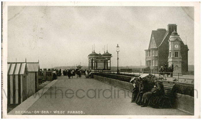 Postcard front: Bexhill-on-Sea - West Parade.
