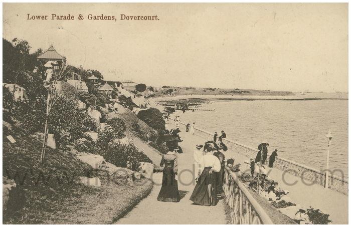 Postcard front: Lower Parade & Gardens, Dovercourt.