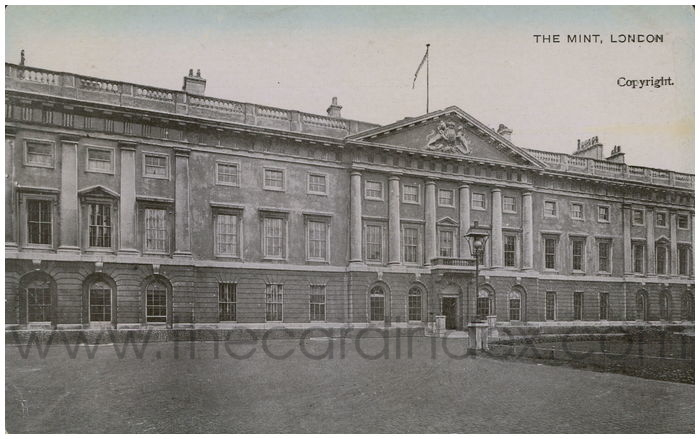 Postcard front: The Mint, London