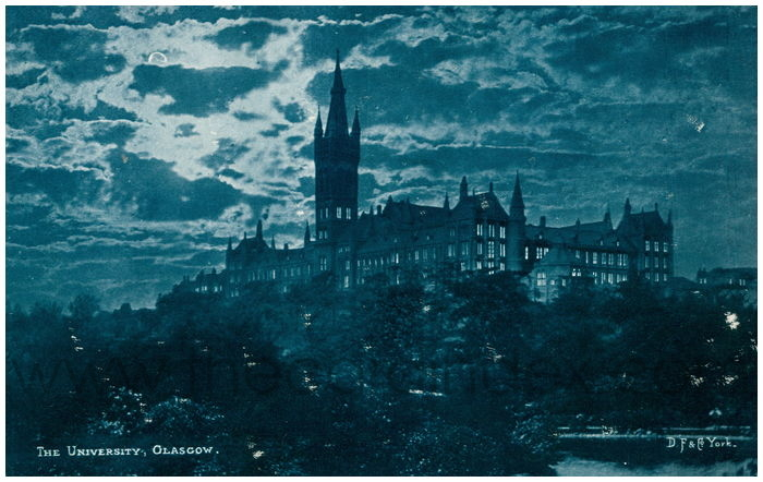 Postcard front: The University, Glasgow.
