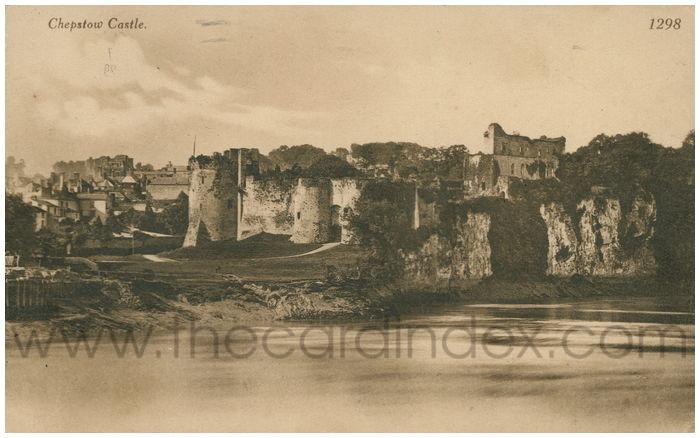 Postcard front: Chepstow Castle.