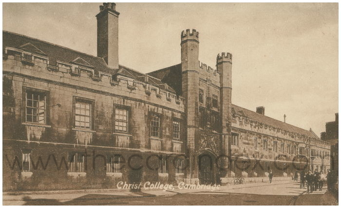 Postcard front: Christ College, Cambridge