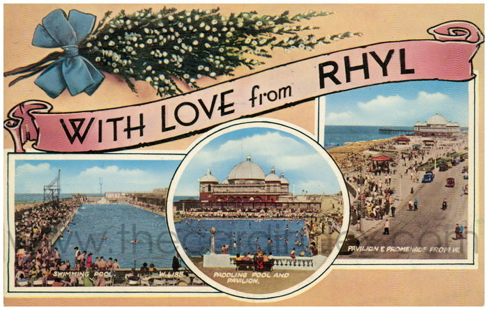 Postcard front: With Love from Rhyl