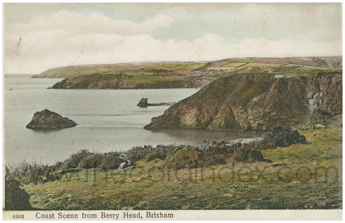 Postcard front: Coast Scene from Berry Head, Brixham
