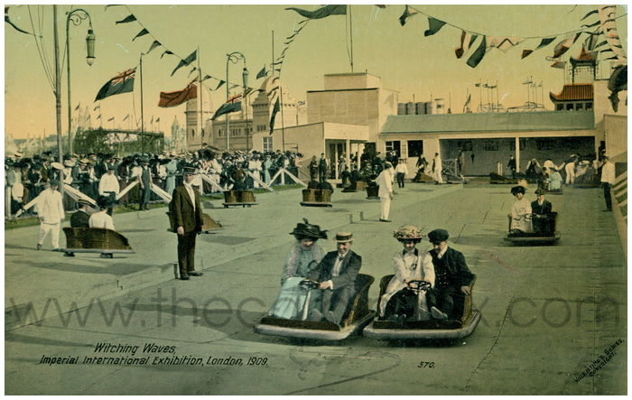 Postcard front: Witching Waves, Imperial International Exhibition, London, 1909.