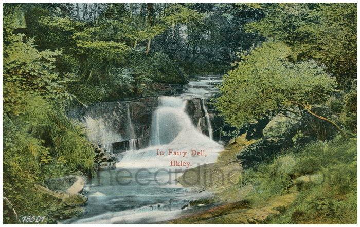 Postcard front: In Fairy Dell, Ilkley.