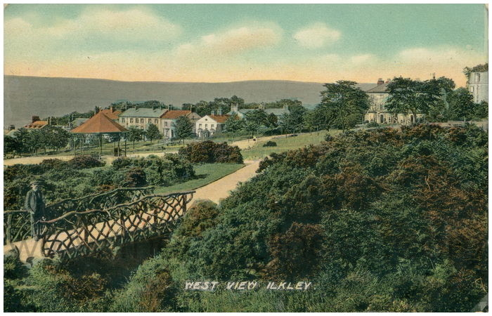 Postcard front: West View Ilkley.