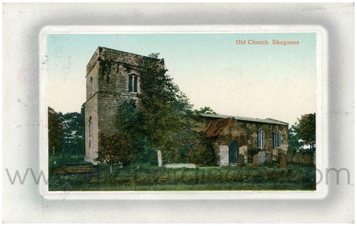 Postcard front: Old Church, Skegness