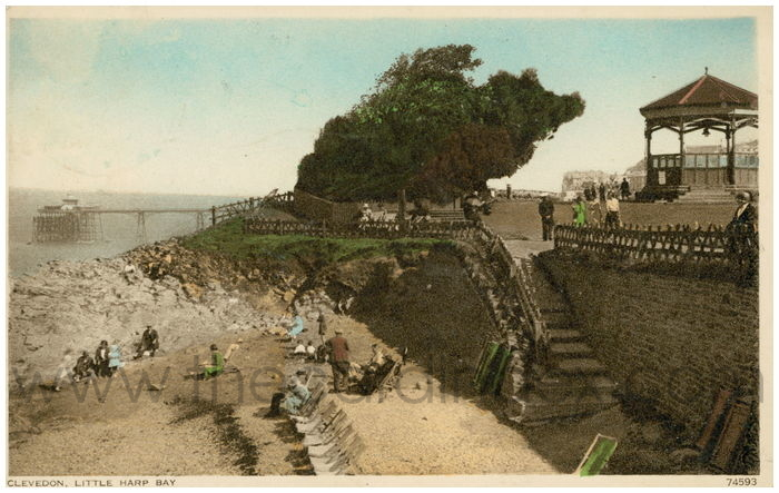 Postcard front: Clevedon, Little Harp Bay