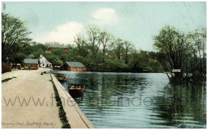 Postcard front: Wyndley Pool, Sutton Park