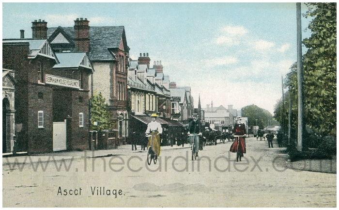 Postcard front: Ascot Village.