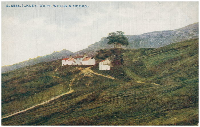 Postcard front: Ilkley: White Wells & Moors.