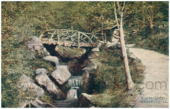 Postcard front: Ilkley: Heber's Ghyll