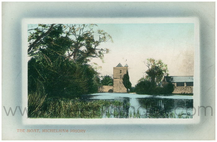 Postcard front: The Moat, Michelham Priory