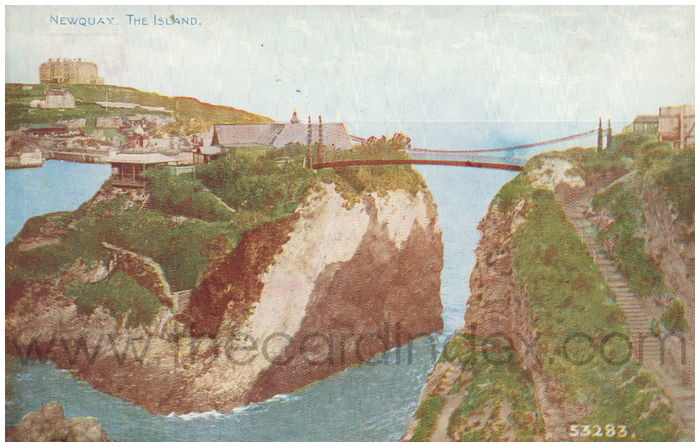 Postcard front: Newquay. The Island.