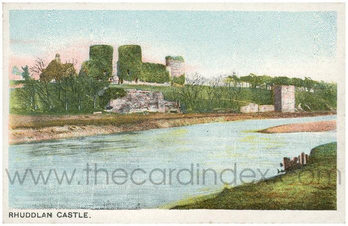 Postcard front: Rhuddlan Castle.
