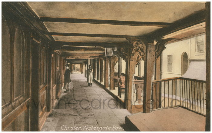Postcard front: Chester, Watergate Row.