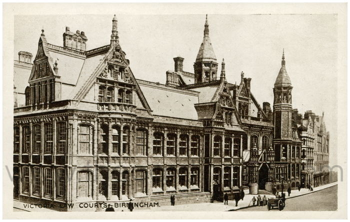 Postcard front: Victoria Law Courts, Birmingham.