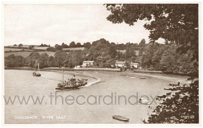 Postcard front: Duncannon, River Dart.