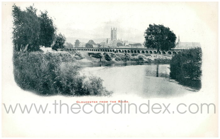 Postcard front: Gloucester from the River