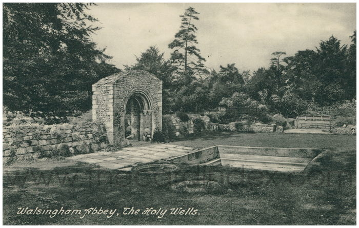 Postcard front: Walsingham Abbey, The Holy Wells.