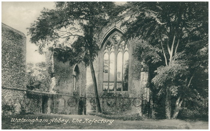 Postcard front: Walsingham Abbey, The Refectory.