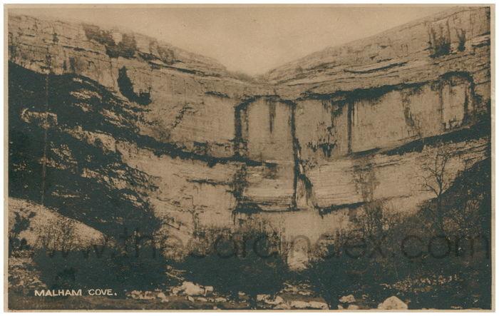Postcard front: Malham Cove.