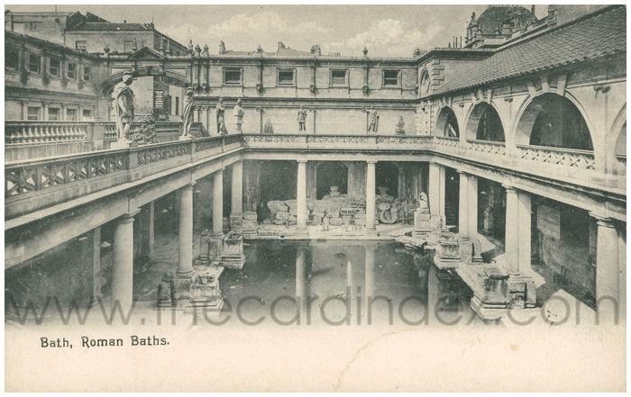 Postcard front: Bath, Roman Baths.