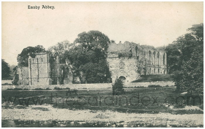 Postcard front: Easby Abbey.