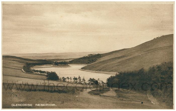 Postcard front: Glencorse Reservoir.