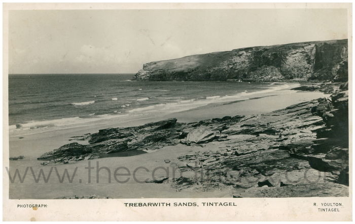 Postcard front: Trebarwith Sands, Tintagel