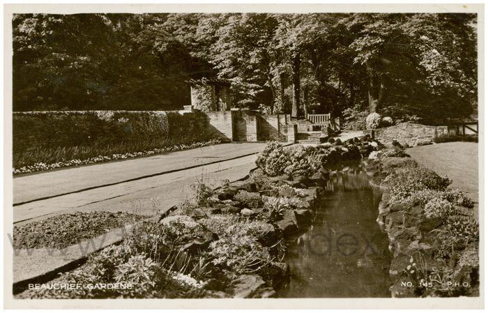 Postcard front: Beauchief Gardens