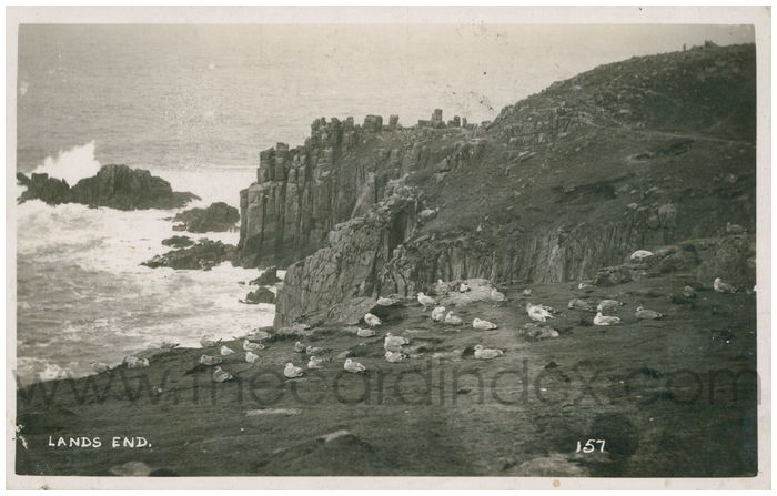 Postcard front: Lands End.