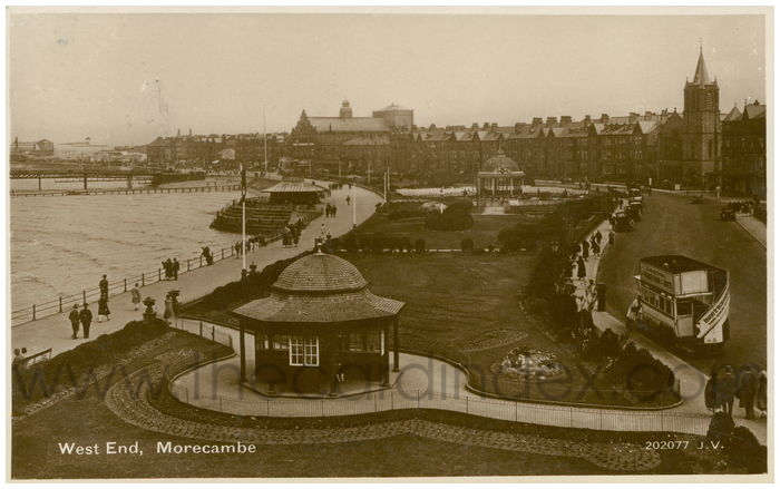 Postcard front: West End, Morcambe