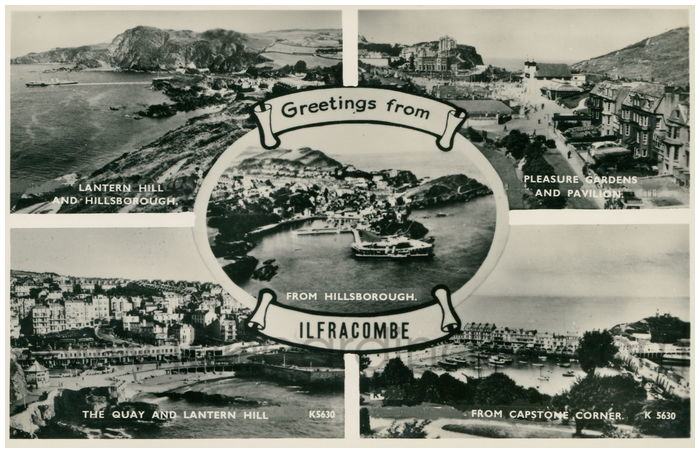 Postcard front: Greetings from Ilfracombe