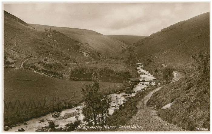 Postcard front: Badgworthy Water, Doone Valley.
