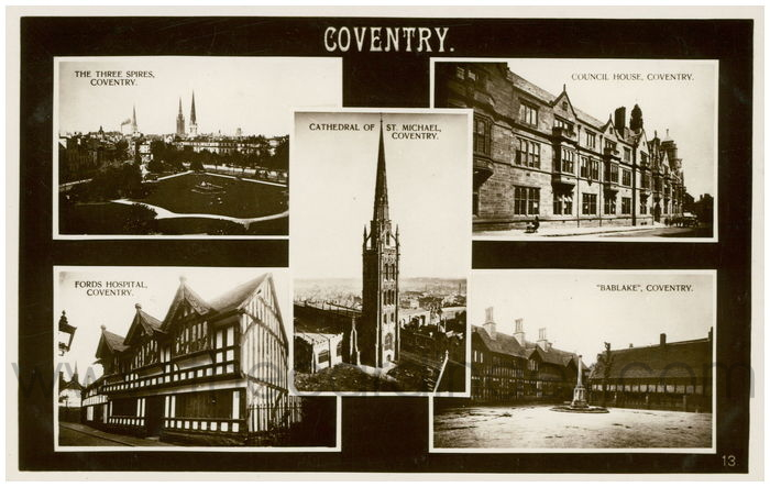 Postcard front: Coventry.