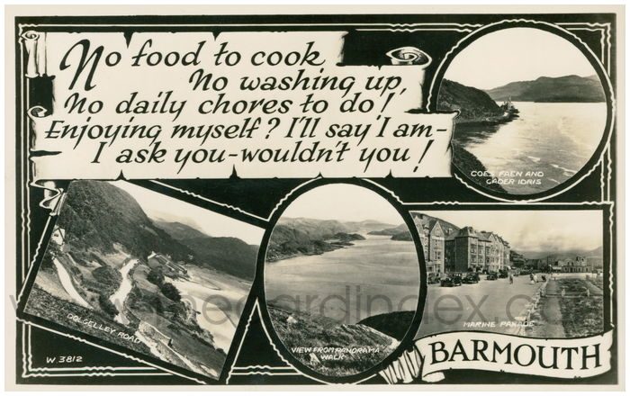 Postcard front: Barmouth