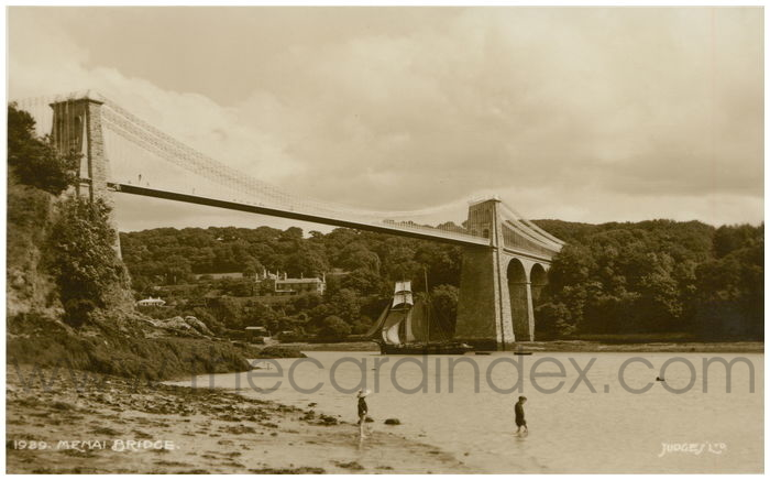 Postcard front: Menai Bridge.