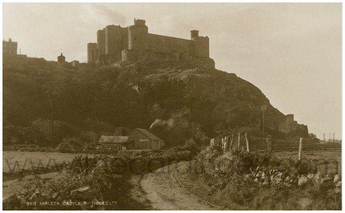 Postcard front: Harlech Castle, N
