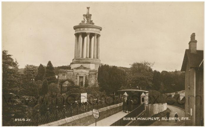 Postcard front: Burns Monument, Alloway, Ayr.