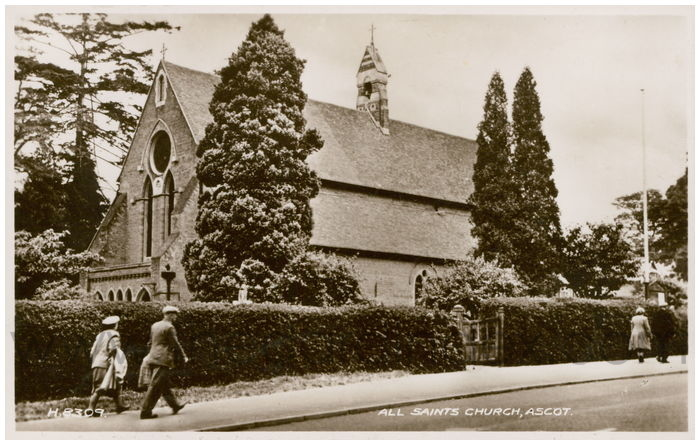 Postcard front: All Saints Church, Ascot.