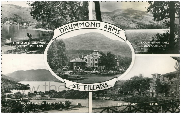 Postcard front: Drummond Arms St. Fillans