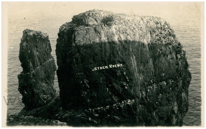 Postcard front: Stack Rocks