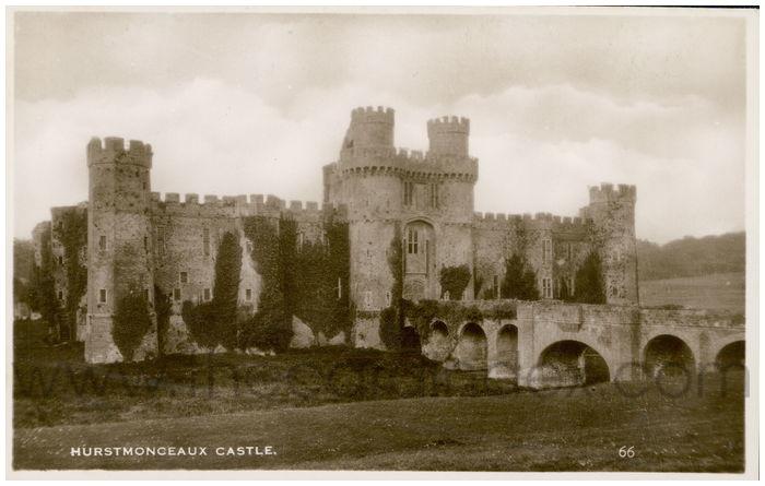 Postcard front: Hurstmonceaux Castle.