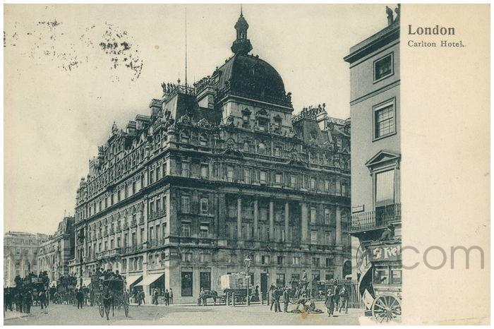 Postcard front: London Carlton Hotel.