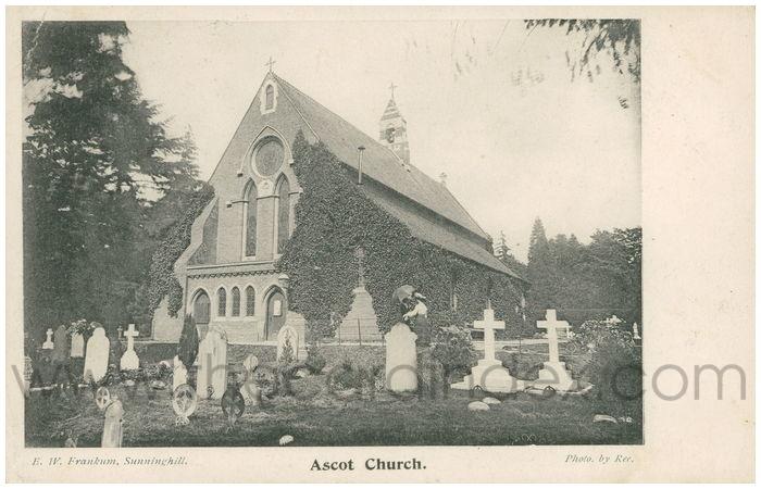 Postcard front: Ascot Church.