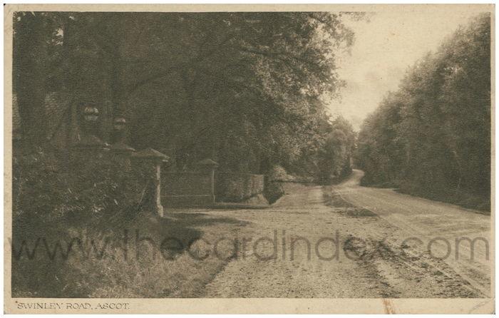 Postcard front: Swinley Road, Ascot.